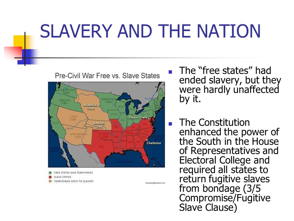 SLAVERY AND THE NATION The free states had ended slavery, but they were hardly unaffected by it.