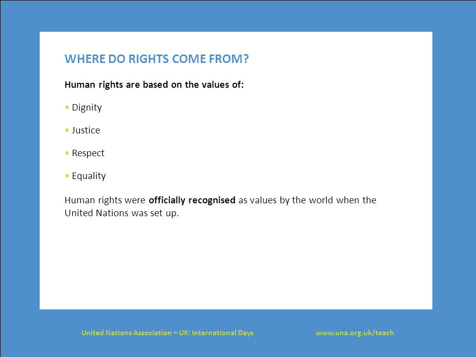 WHERE DO RIGHTS COME FROM