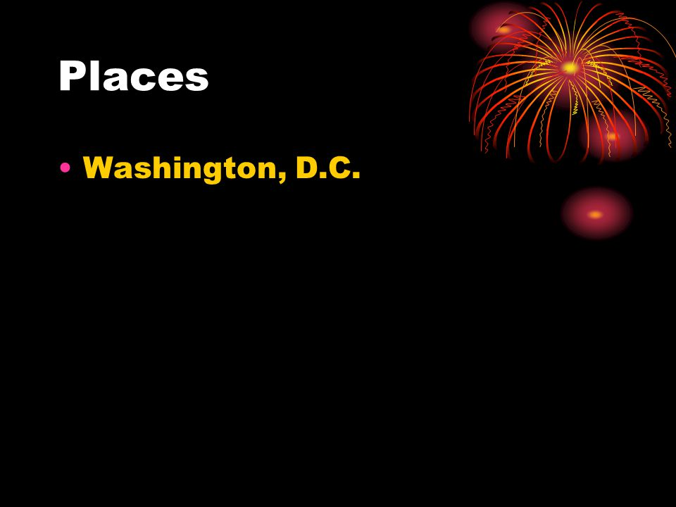 Places Washington, D.C.