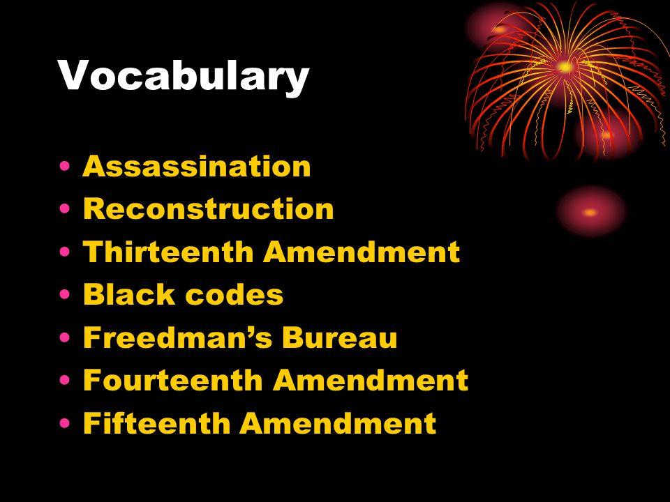 Vocabulary Assassination Reconstruction Thirteenth Amendment