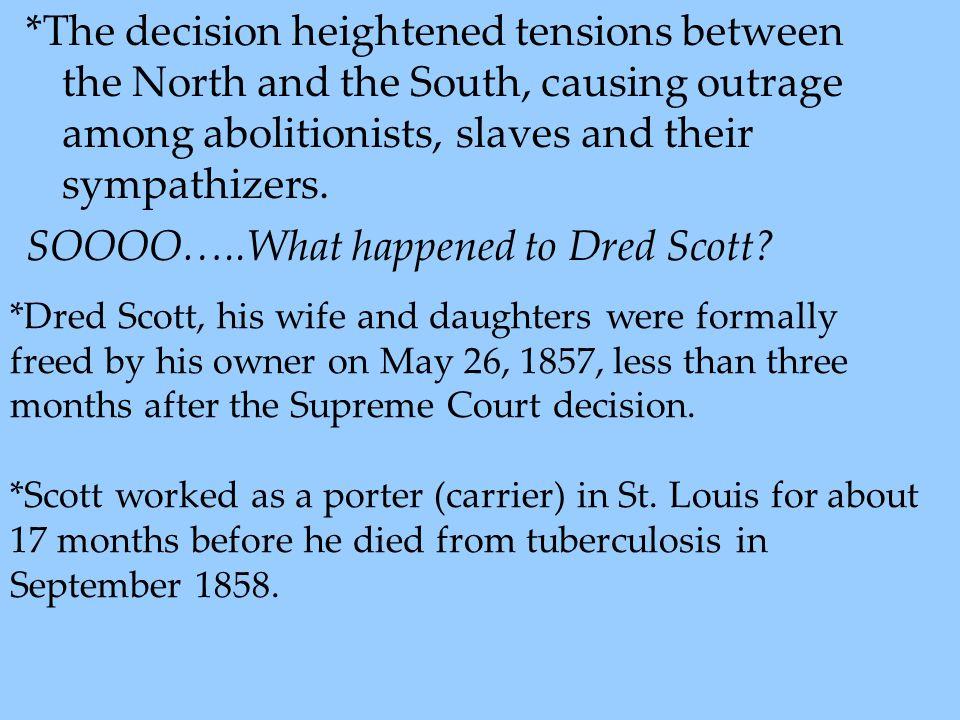 SOOOO…..What happened to Dred Scott
