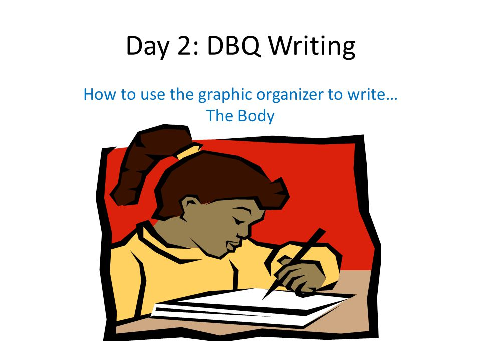 How to use the graphic organizer to write… The Body