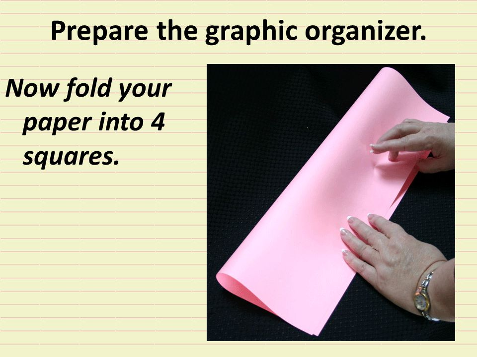 Prepare the graphic organizer.