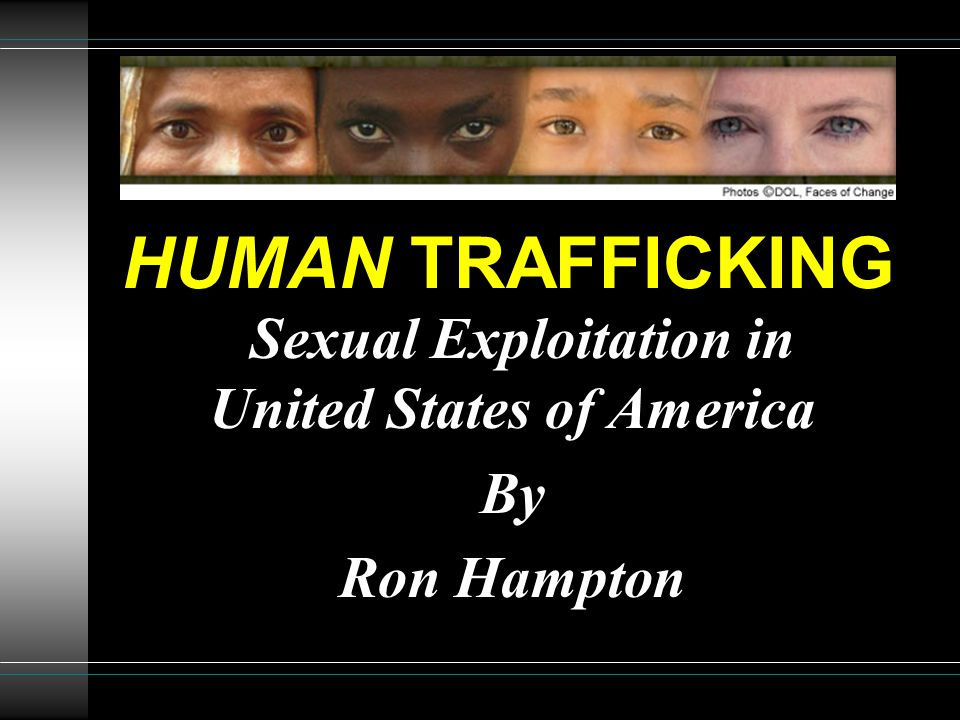 Sexual Exploitation in United States of America By Ron Hampton