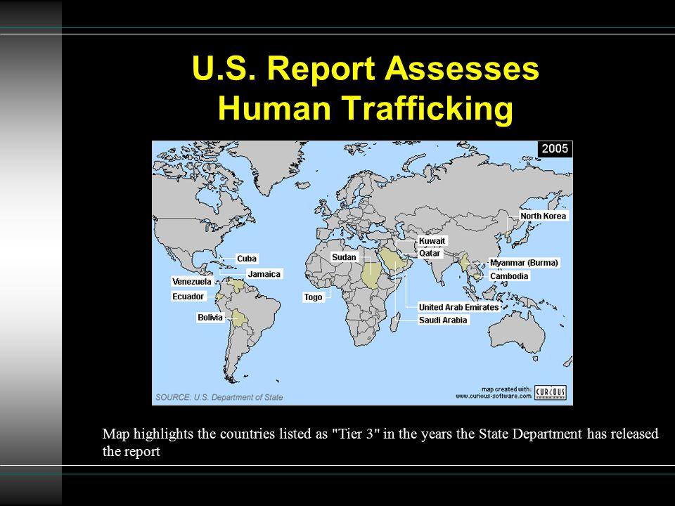U.S. Report Assesses Human Trafficking