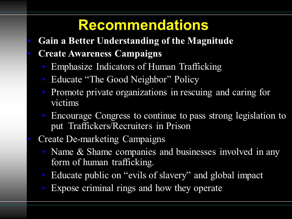 Recommendations Gain a Better Understanding of the Magnitude