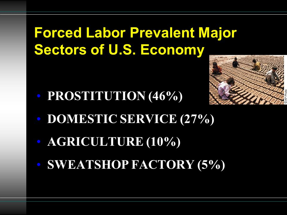 Forced Labor Prevalent Major Sectors of U.S. Economy