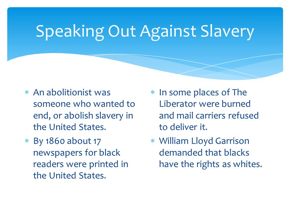 Speaking Out Against Slavery