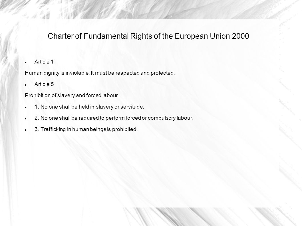 Charter of Fundamental Rights of the European Union 2000