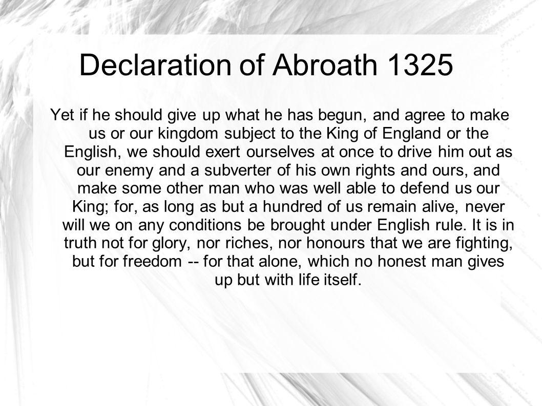 Declaration of Abroath 1325