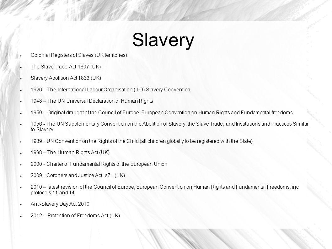 Slavery Colonial Registers of Slaves (UK territories)