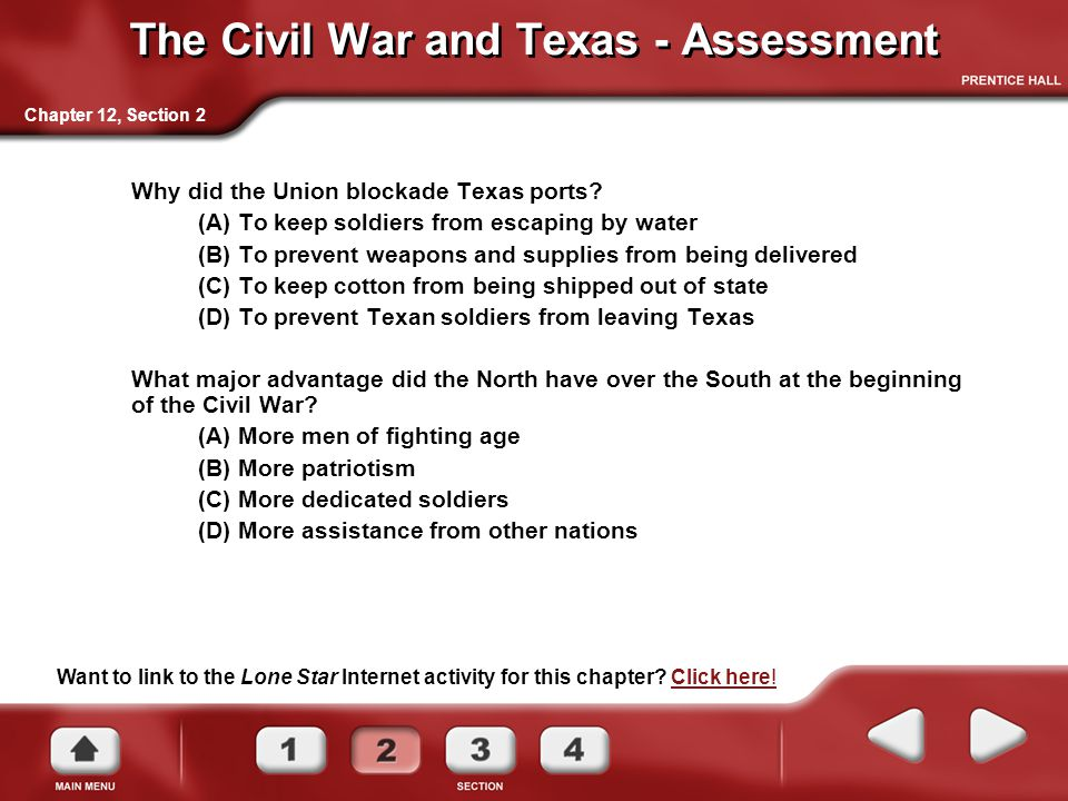 The Civil War and Texas - Assessment