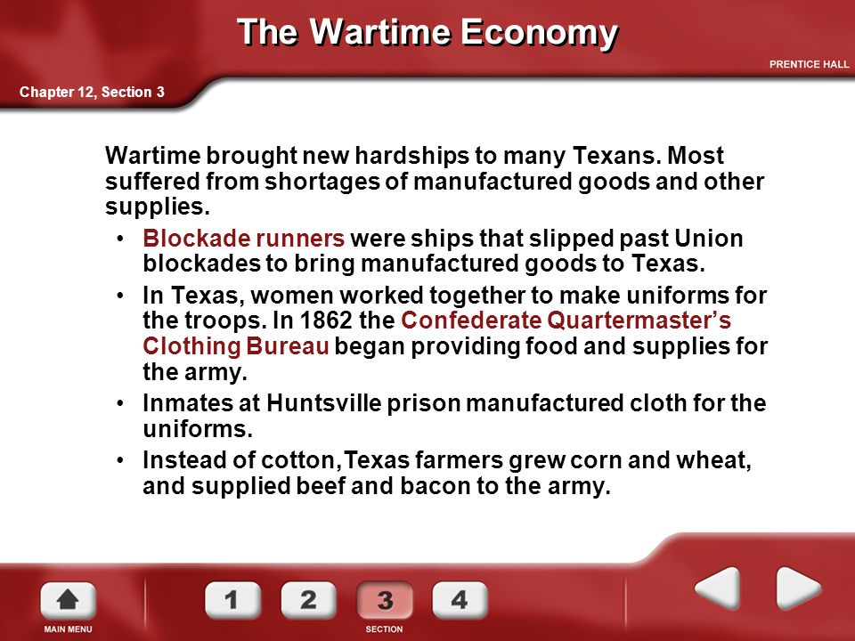 The Wartime Economy Chapter 12, Section 3.