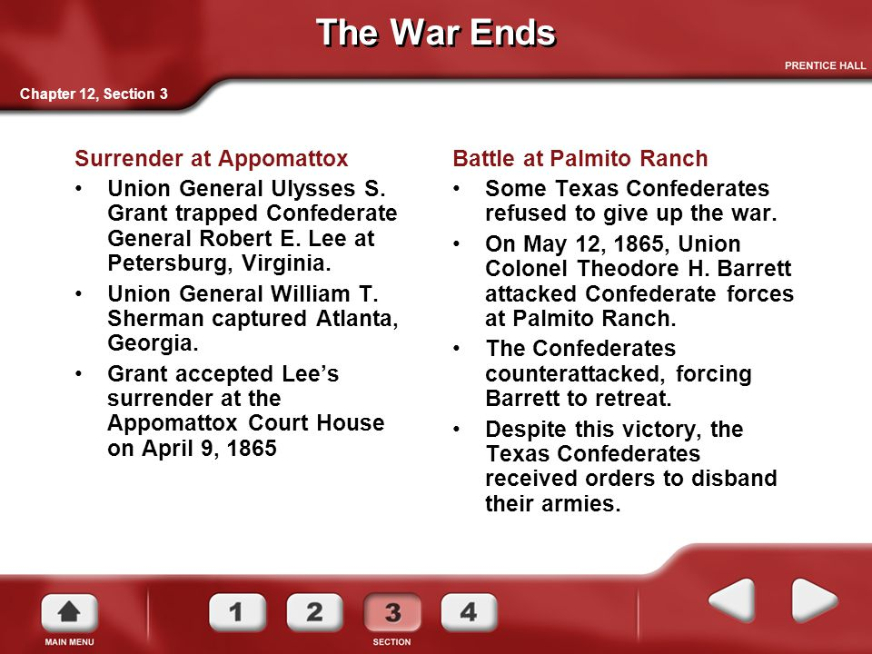 The War Ends Surrender at Appomattox