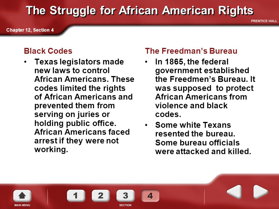 The Struggle for African American Rights