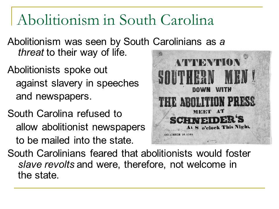 Abolitionism in South Carolina