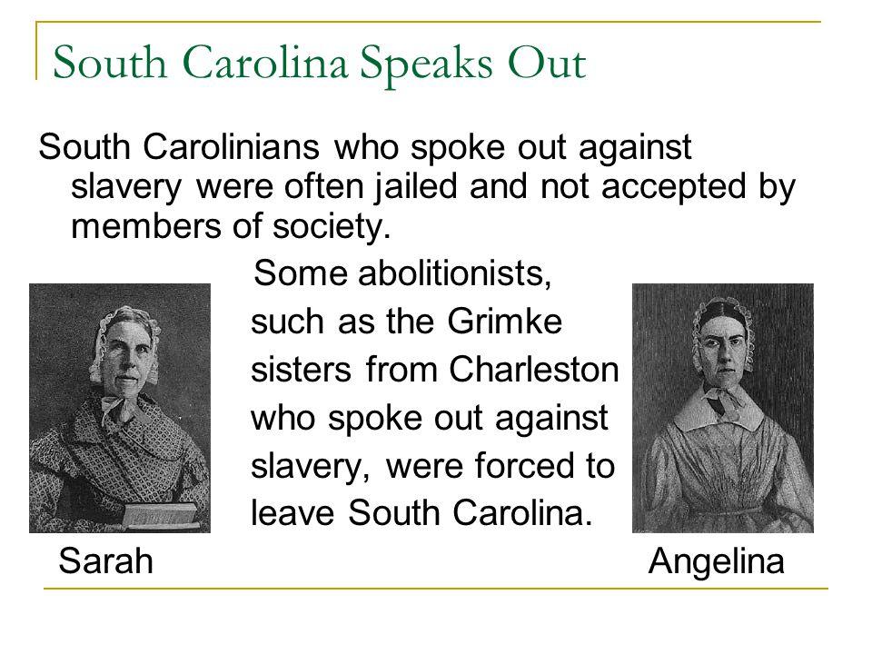 South Carolina Speaks Out