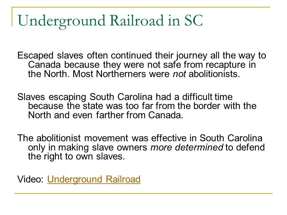 Underground Railroad in SC