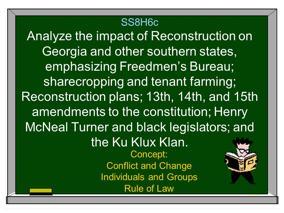 Concept: Conflict and Change Individuals and Groups Rule of Law