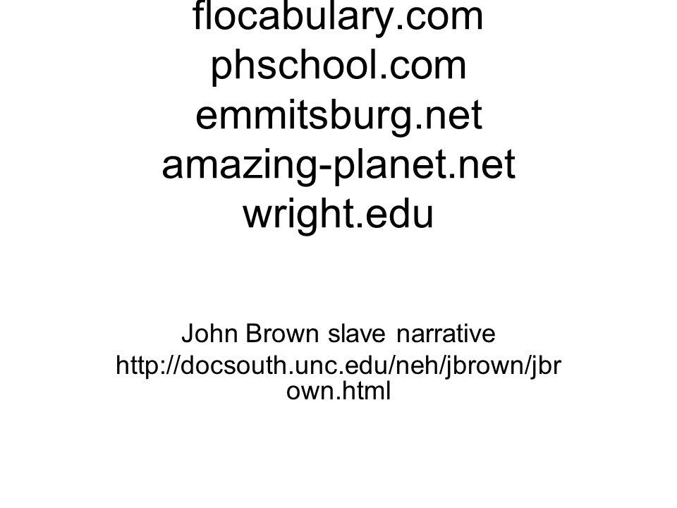 John Brown slave narrative