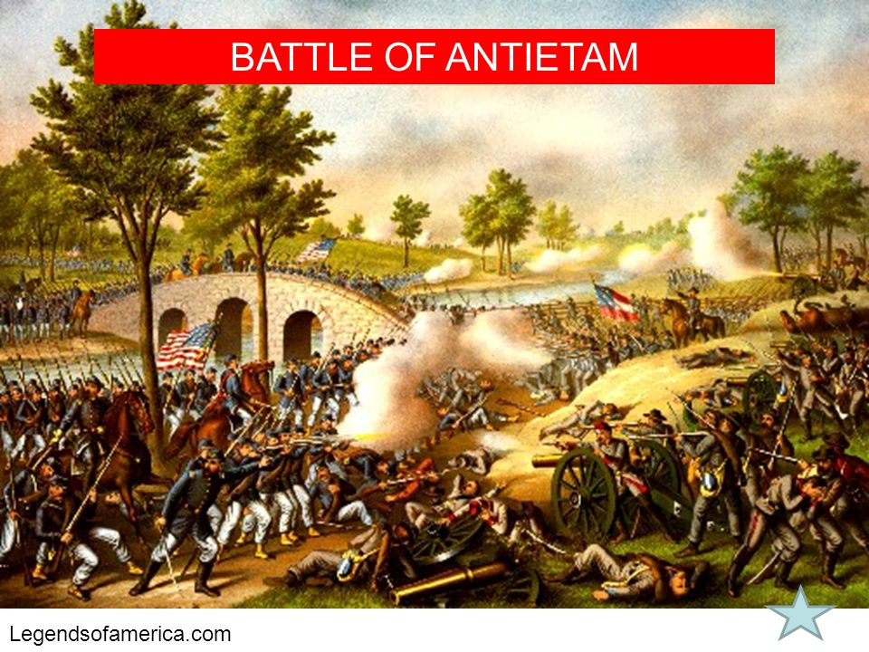 BATTLE OF ANTIETAM Legendsofamerica.com