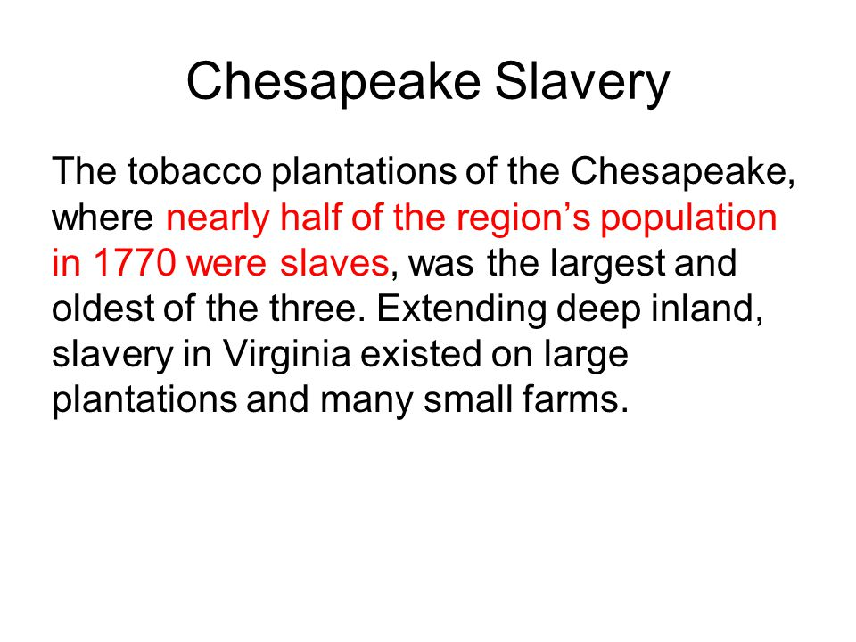 Chesapeake Slavery