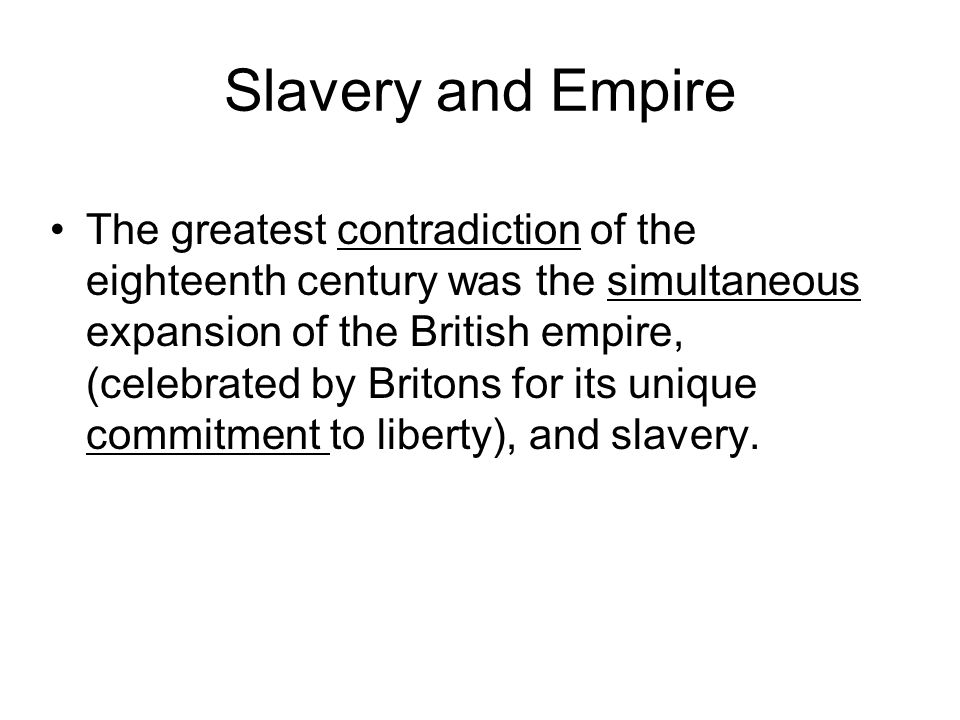 Slavery and Empire