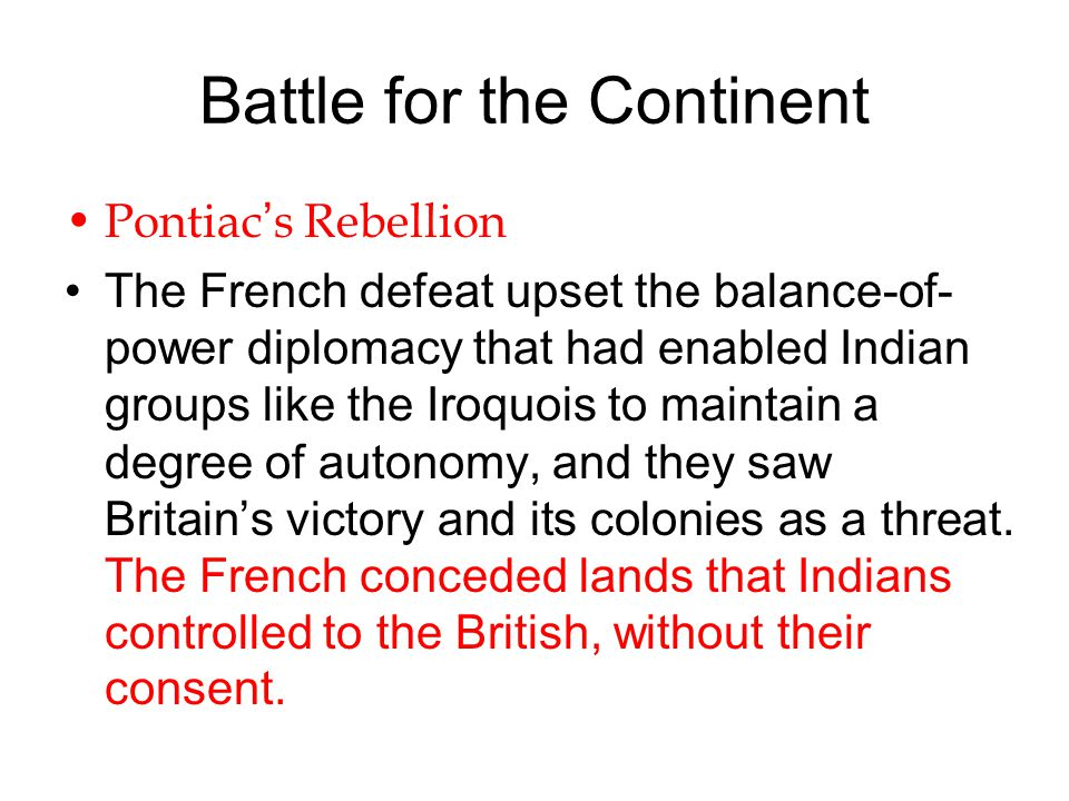 Battle for the Continent