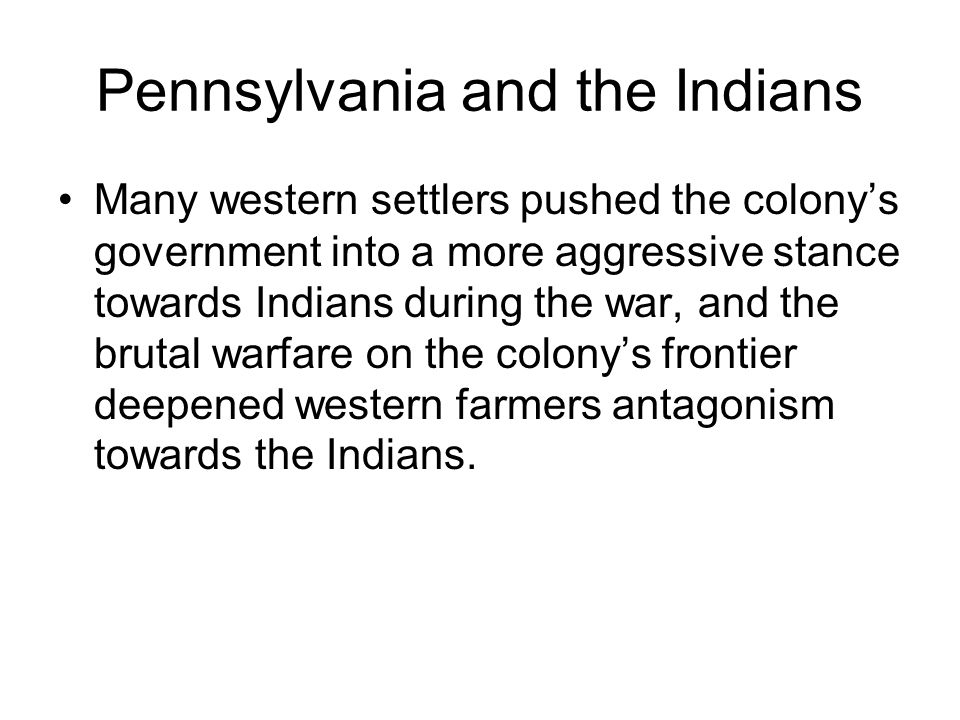 Pennsylvania and the Indians
