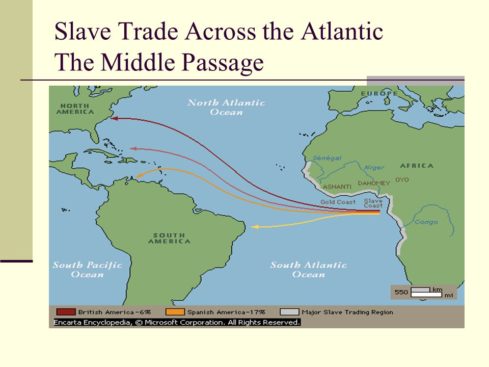 Slave Trade Across the Atlantic The Middle Passage