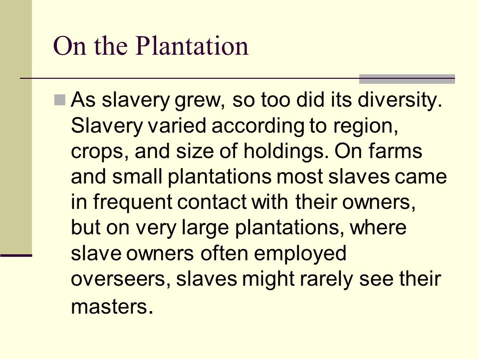 On the Plantation