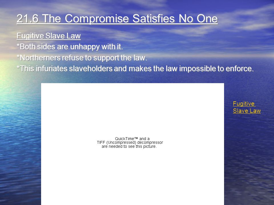 21.6 The Compromise Satisfies No One