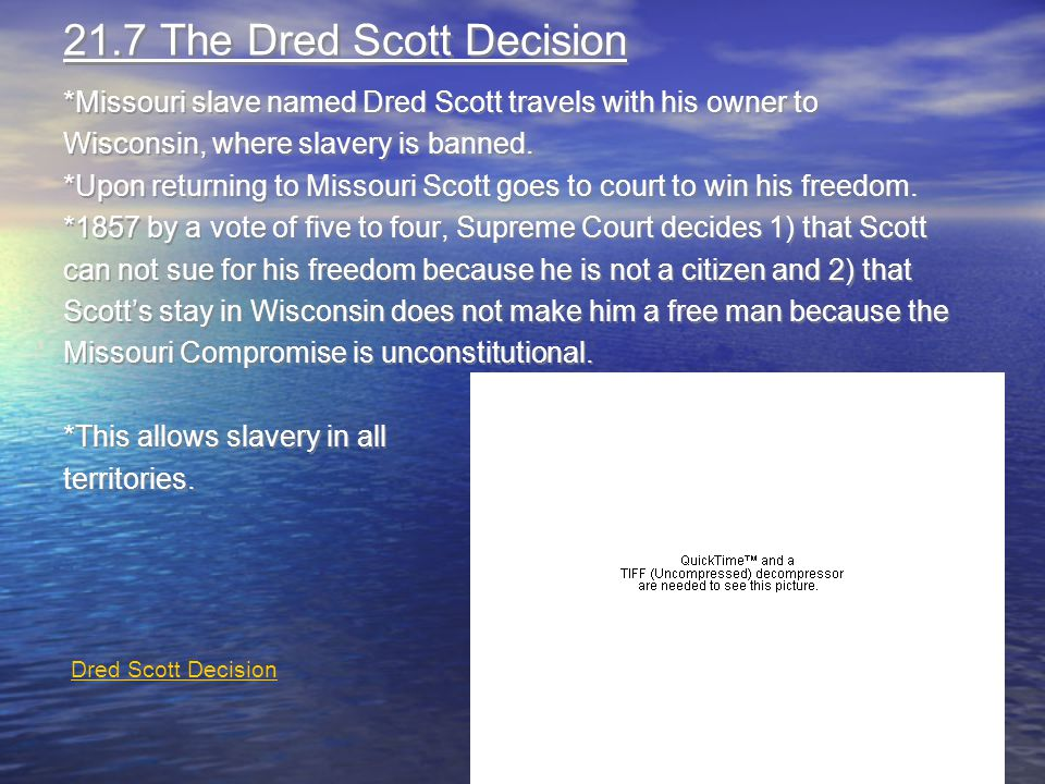 21.7 The Dred Scott Decision