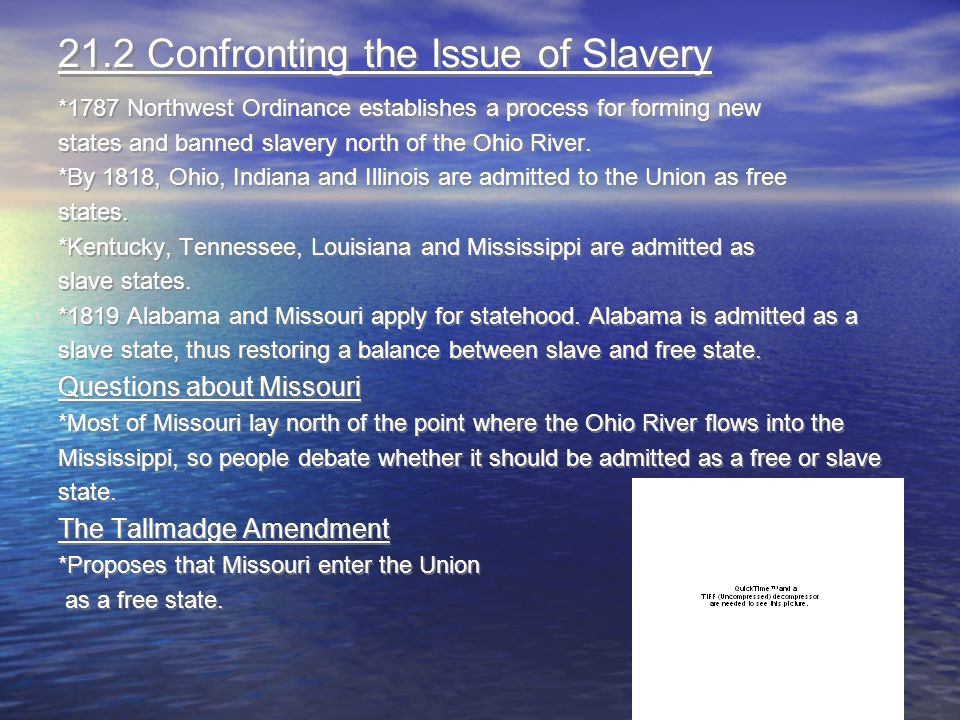 21.2 Confronting the Issue of Slavery