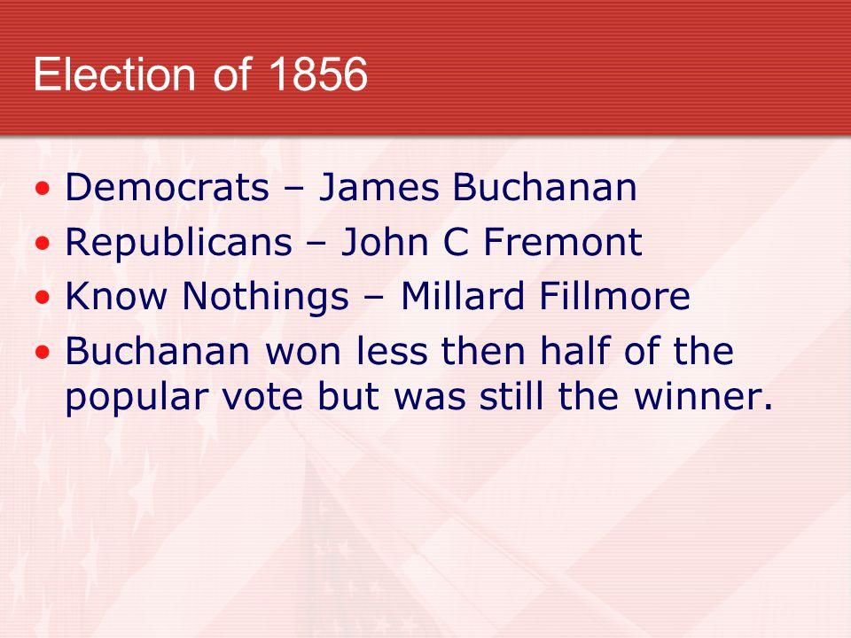 Election of 1856 Democrats – James Buchanan