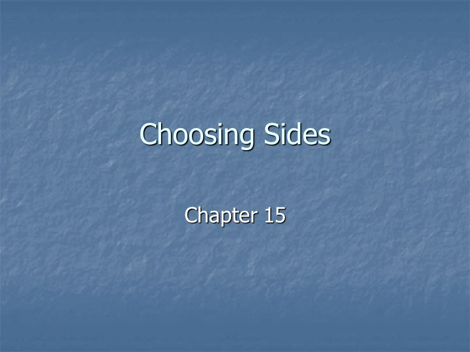 Choosing Sides Chapter 15