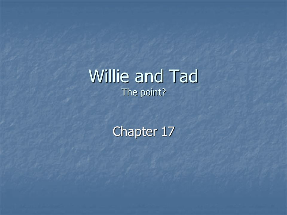Willie and Tad The point