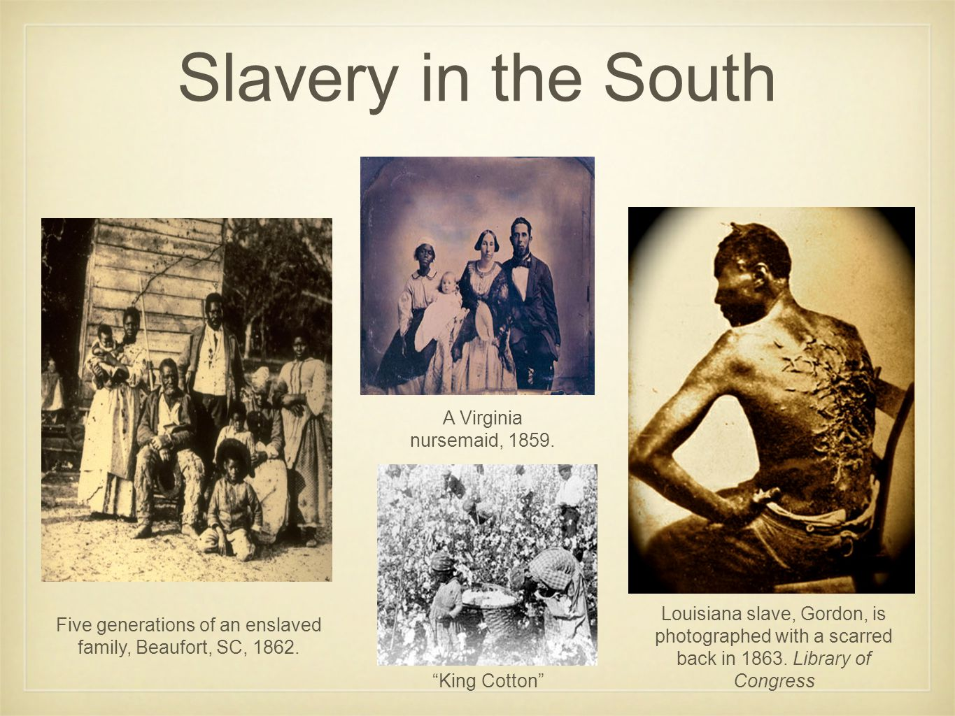 Five generations of an enslaved family, Beaufort, SC, 1862.