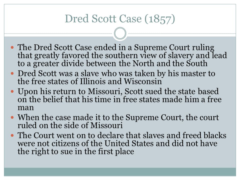 Dred Scott Case (1857)