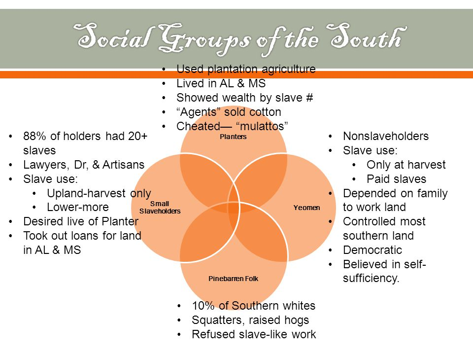Social Groups of the South