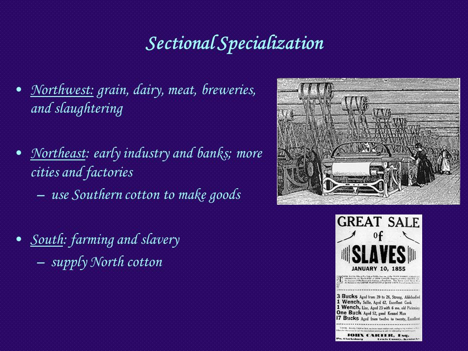 Sectional Specialization