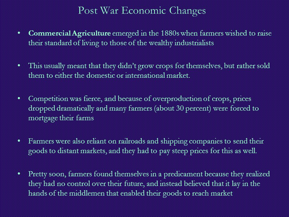 Post War Economic Changes