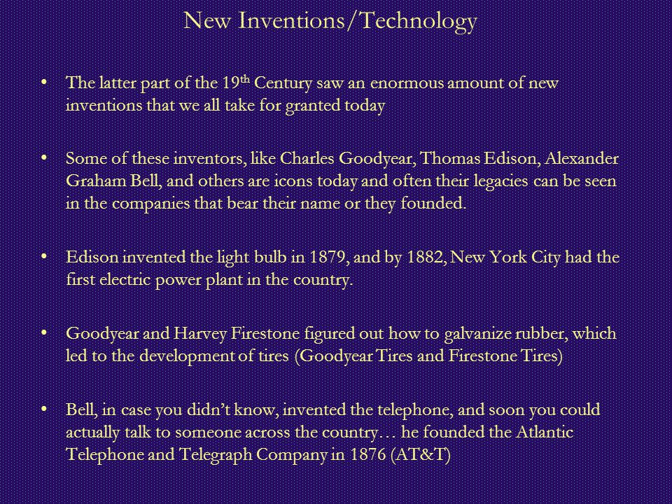 New Inventions/Technology