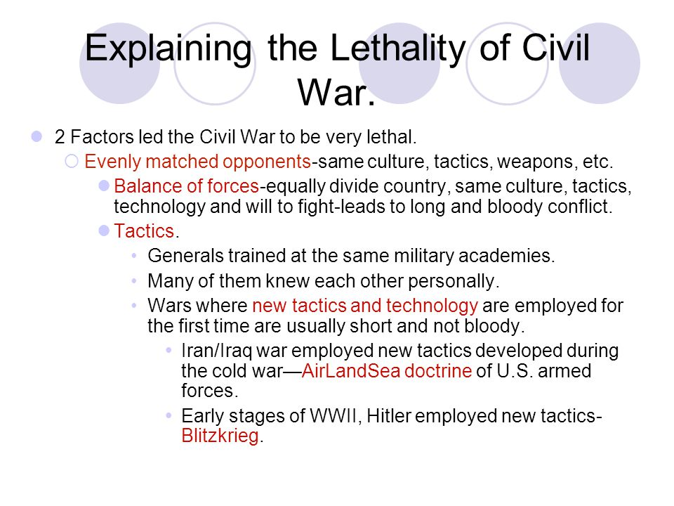 Explaining the Lethality of Civil War.
