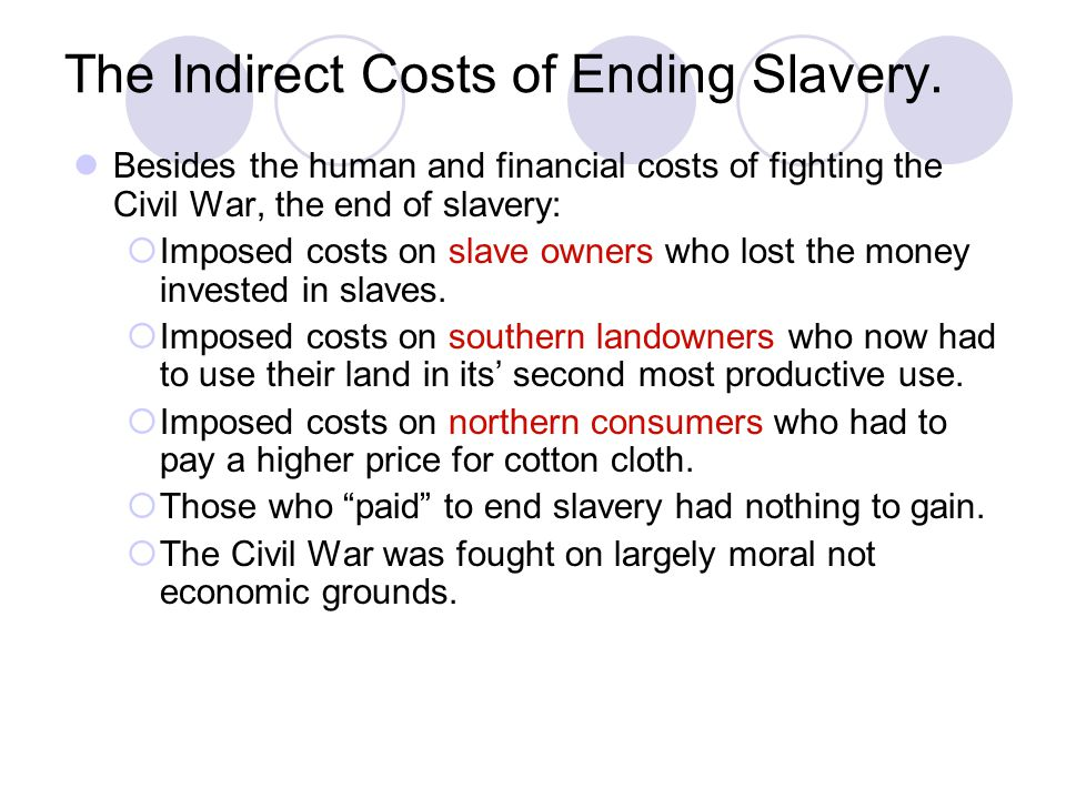The Indirect Costs of Ending Slavery.