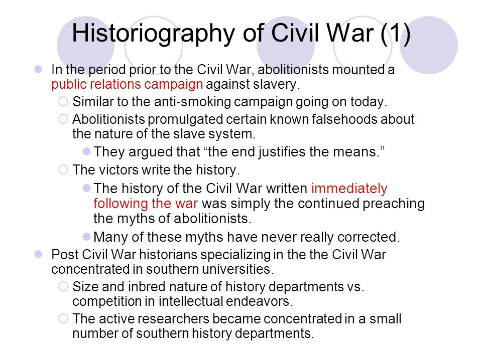 Historiography of Civil War (1)