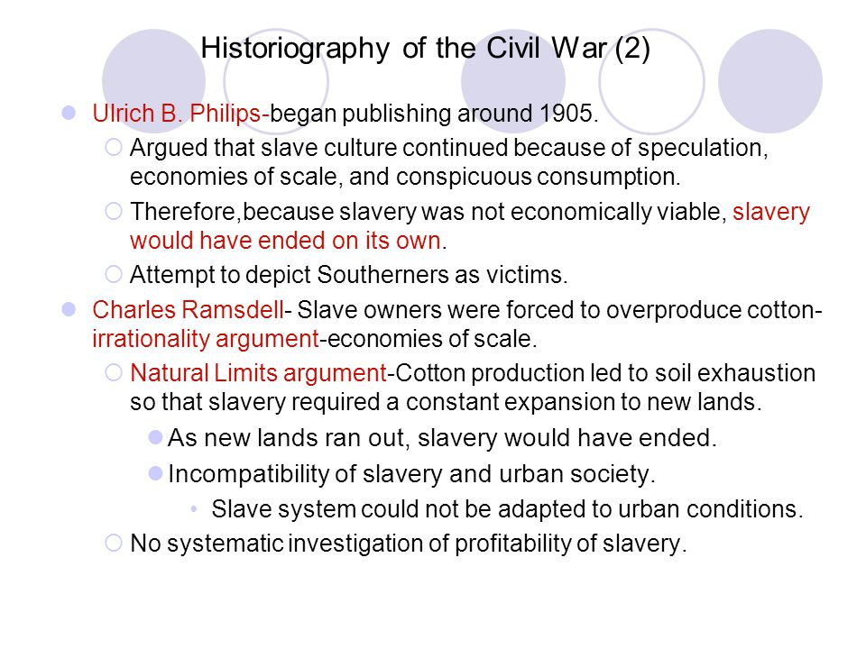 Historiography of the Civil War (2)