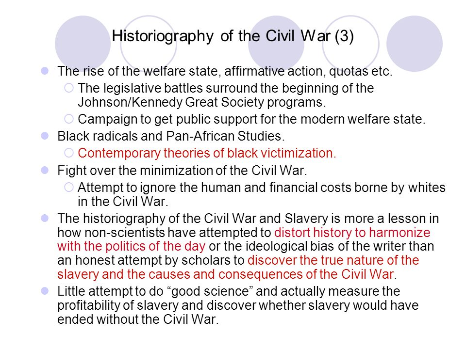 Historiography of the Civil War (3)