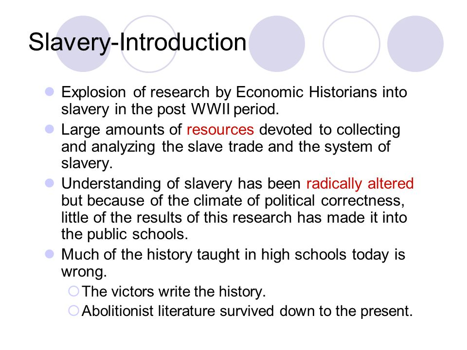 Slavery-Introduction