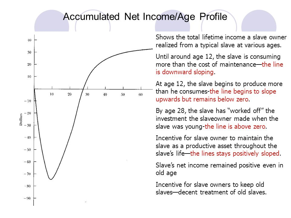 Accumulated Net Income/Age Profile